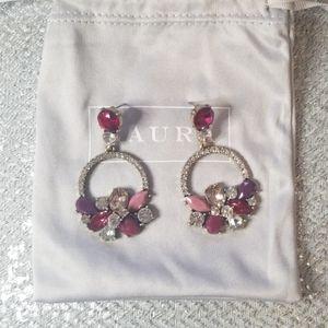 LAURA crystal  chandelier earrings